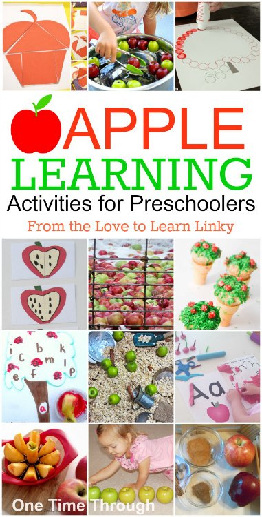 Apple Learning Activities for Preschoolers - One Time Through