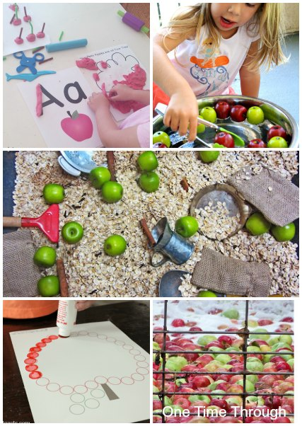 Apple Sensory and Fine Motor Learning