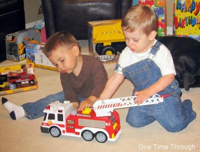 Boys Sharing Car