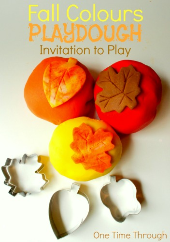 Fall Colours Playdough Invitation to Play