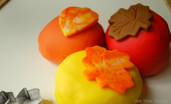 Fall Colours Playdough