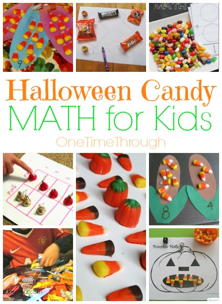 Halloween Candy Math for Kids - One Time Through