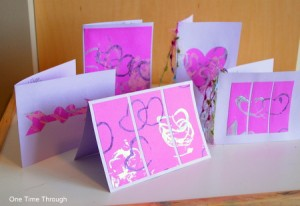 Heart Print Cards for Grandparents Day