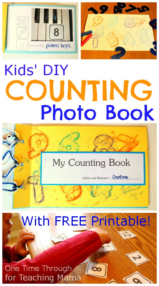 Kids DIY Counting Photo Book - One Time Through small