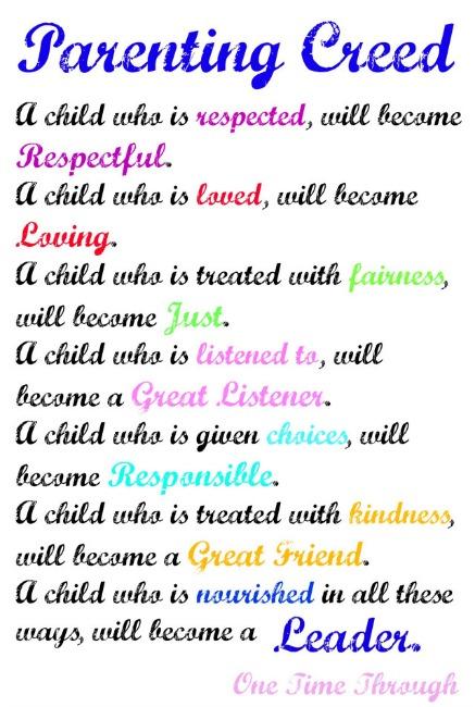Parenting Creed Prejudice-Free