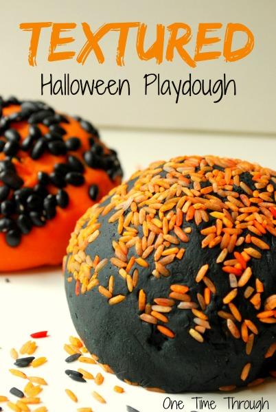 Textured Halloween Playdough