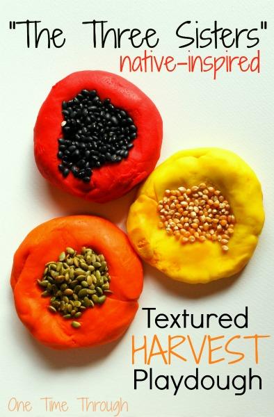 The Three Sisters Textured Harvest Playdough