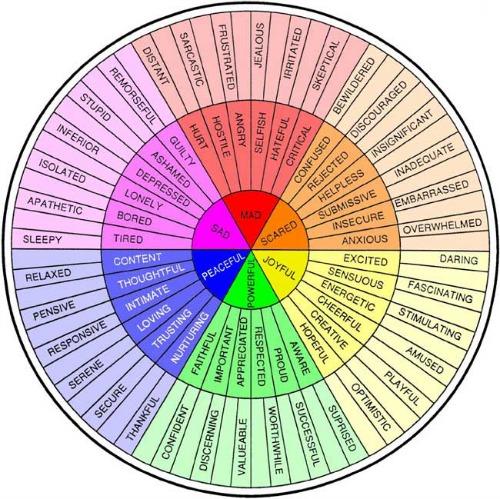 Colour Feelings Wheel