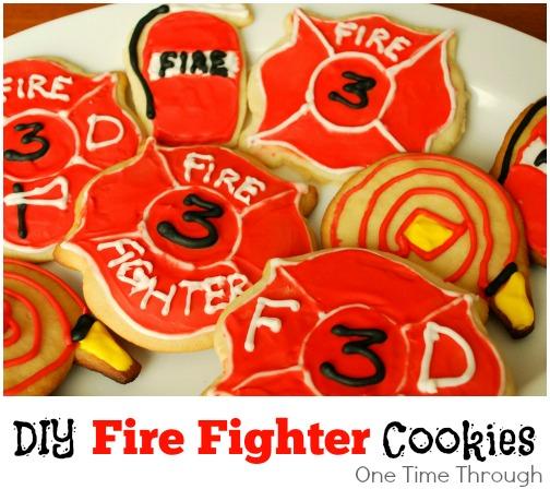 DIY Firefighter Cookies