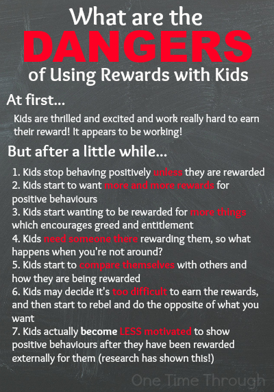 Dangers of Using Rewards with Kids
