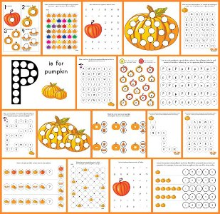 Do a Dot Pumpkin Printables