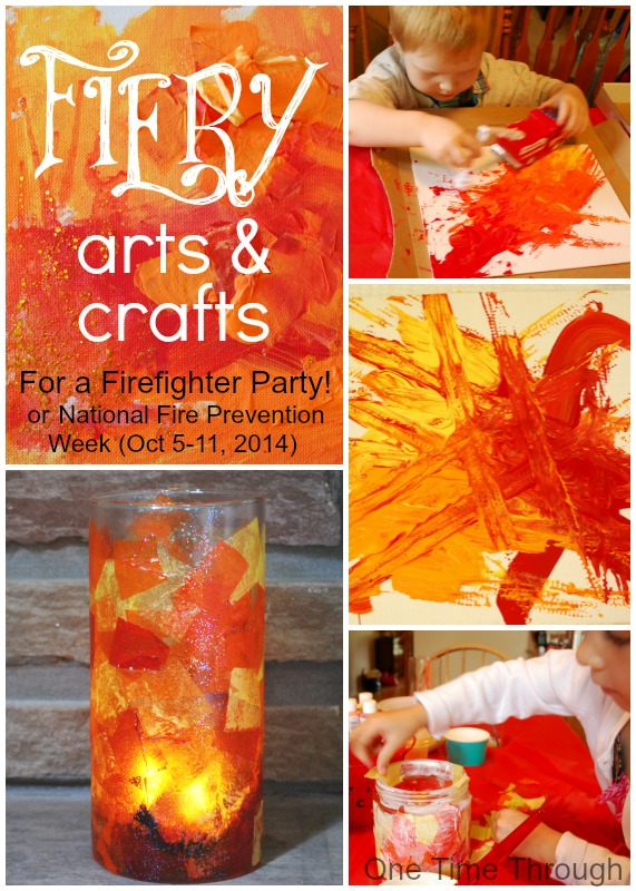fire safety crafts firefighter birthday fiery arts and crafts one 2020
