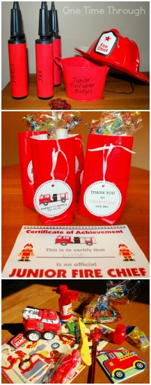 Fire Fighter Party Favours