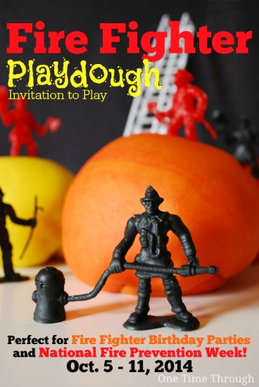 Fire Fighter Playdough Invitation to Play