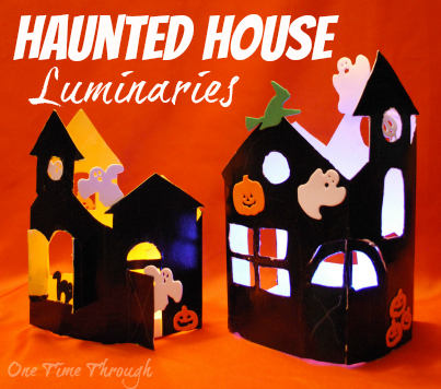 Haunted House Luminaries