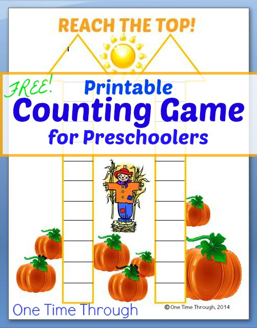 Printable Counting Game