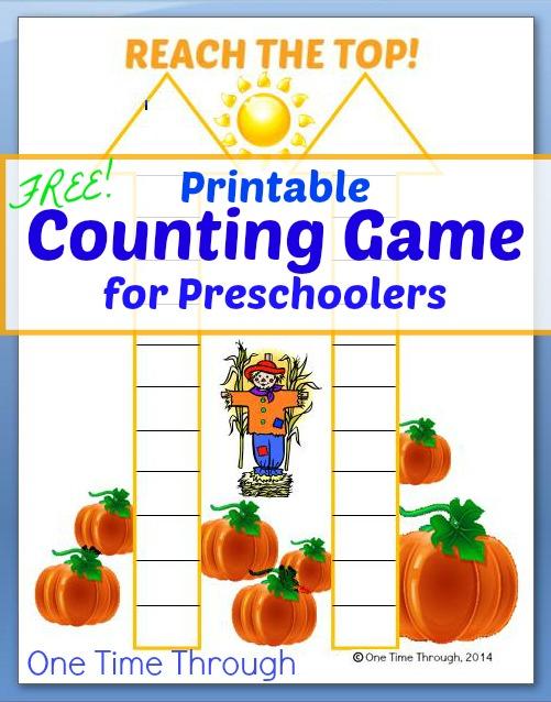 Printable Counting Game