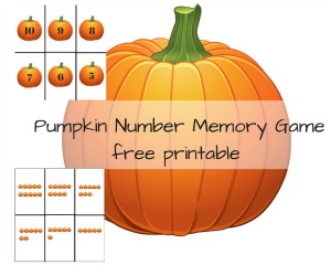 Pumpkin Math Matching
