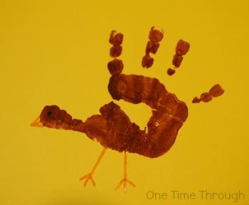 Turkey Hand Print Details