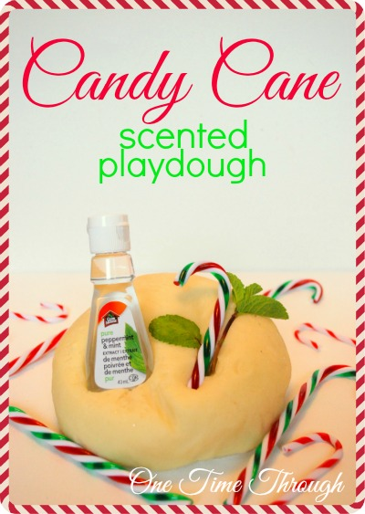 Candy Cane Scented Playdough
