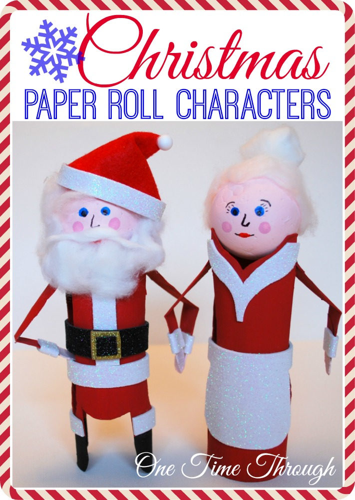 Christmas Paper Roll Characters