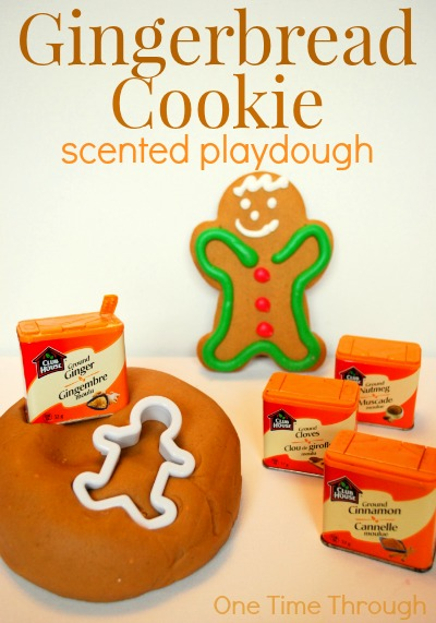 Gingerbread Cookie Scented Playdough