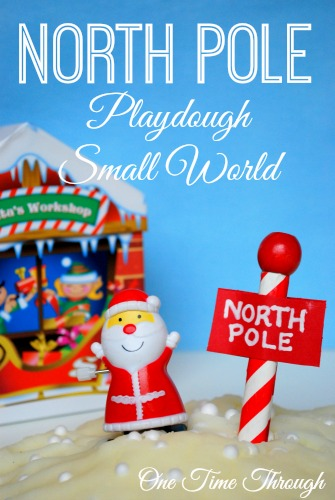 North Pole Playdough Small World