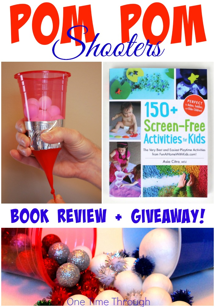 Pom Pom Shooters Screen Free Activities Book Review One Time Through