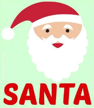 Santa Playdough Mat Pic