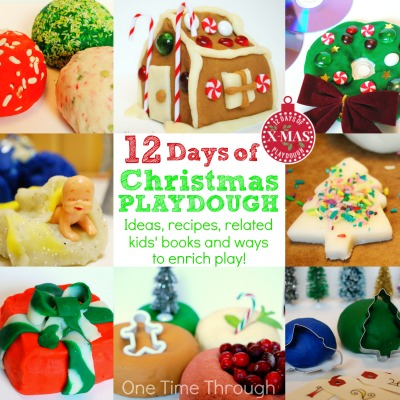 12 Days of Christmas Playdough activities for kids