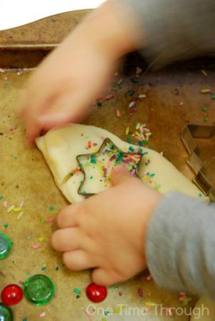 Christmas Sugar Cookie Playdough Baking