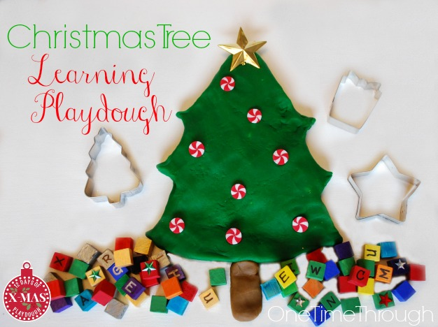 Christmas Tree Learning Playdough
