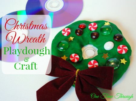 Christmas Wreath Playdough & Craft