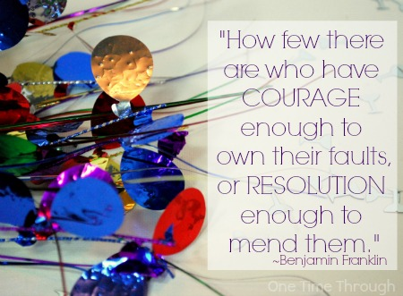 Courage to Make Resolutions