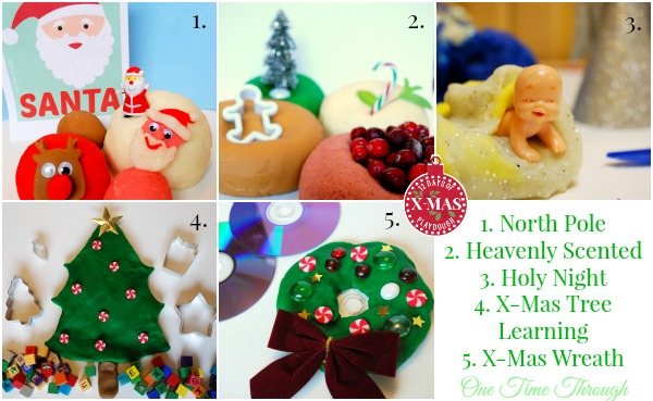 First 5 Days of Christmas Playdough