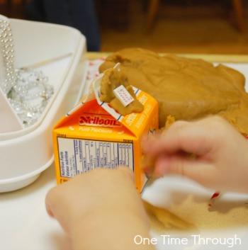 Gingerbread House Playdough