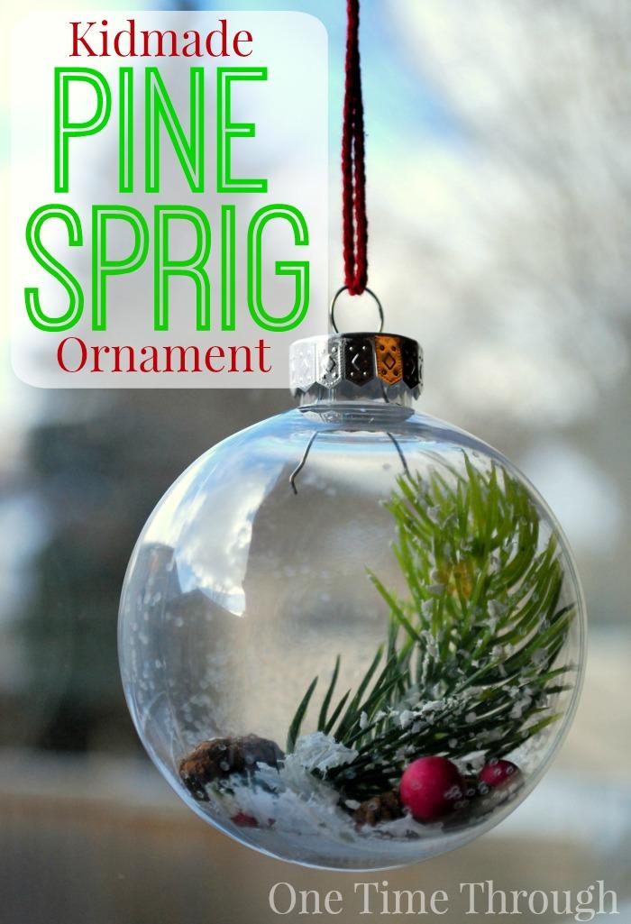Kidmade Pine Sprig Ornament