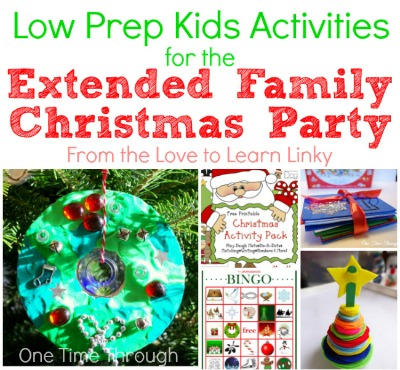 Low Prep Kids Activities for Christmas Parties
