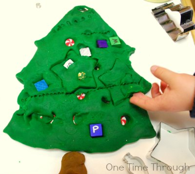Making Imprints on Christmas Tree