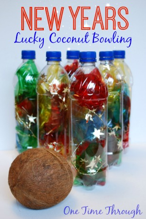 New Years Lucky Coconut Bowling