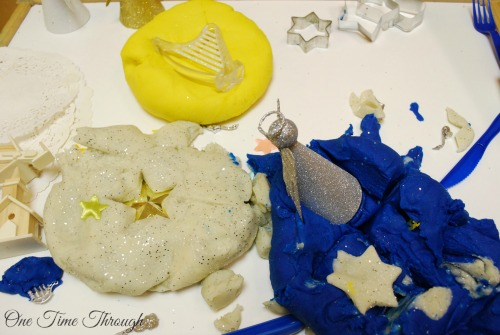 Playing with Holy Night Playdough