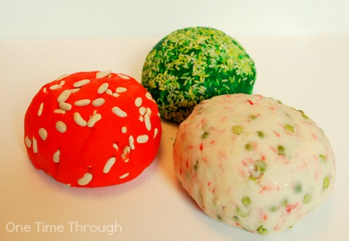 Textured Christmas Playdough