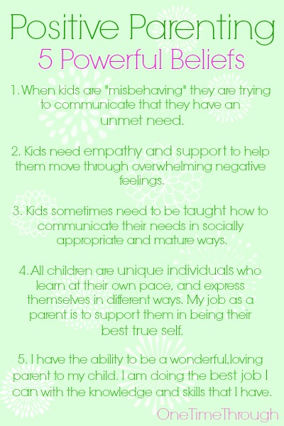 5 Powerful Positive Parenting Beliefs