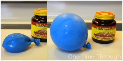 Blowing up a balloon with Yeast
