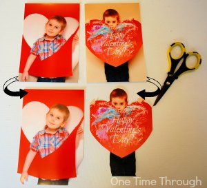 Cutting Out Photos for Valentines Cards