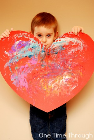 Giant Valentines Card Printed Heart