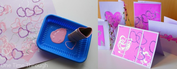 Paper Roll Heart Painting