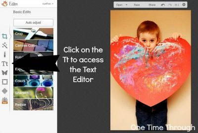 PicMonkey instructions #2 - finding text editor