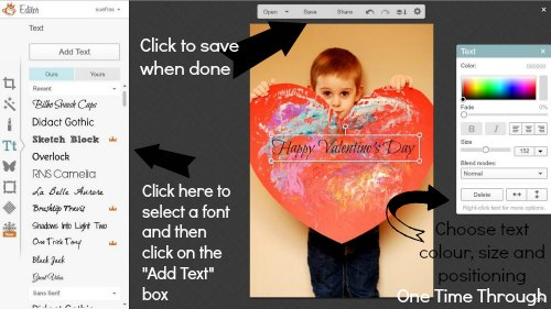 PicMonkey instructions #3 - customizing text