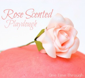 Rose Scented Playdough for Valentine's Day
